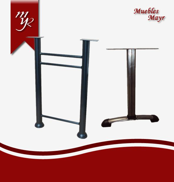 Componentes para sillas muebles mayr for Pedestales metalicos para mesas