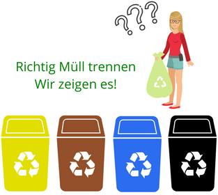 Richtig Müll trennen - muelleimer-gigant.de