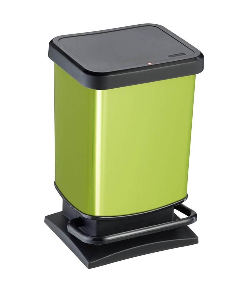 Rotho Mülleimer Paso grün metallic