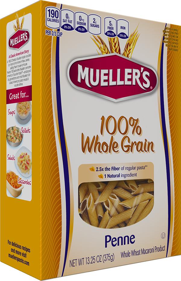 100% Whole Grain Penne - Mueller's Pasta