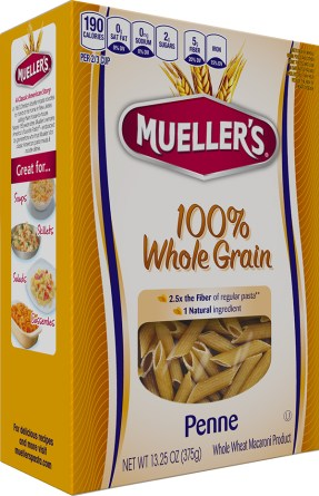 Box of Muellers 100% Whole Grain Penne Pasta