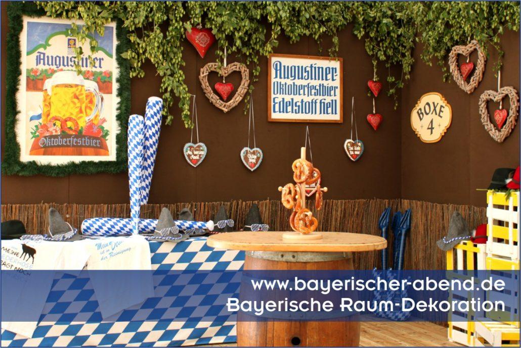 Bayerische Dekoration fr bayerischer Abend  Oktoberfest