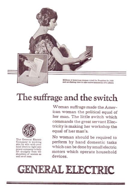 Reklama za General Electric, oko 1920.