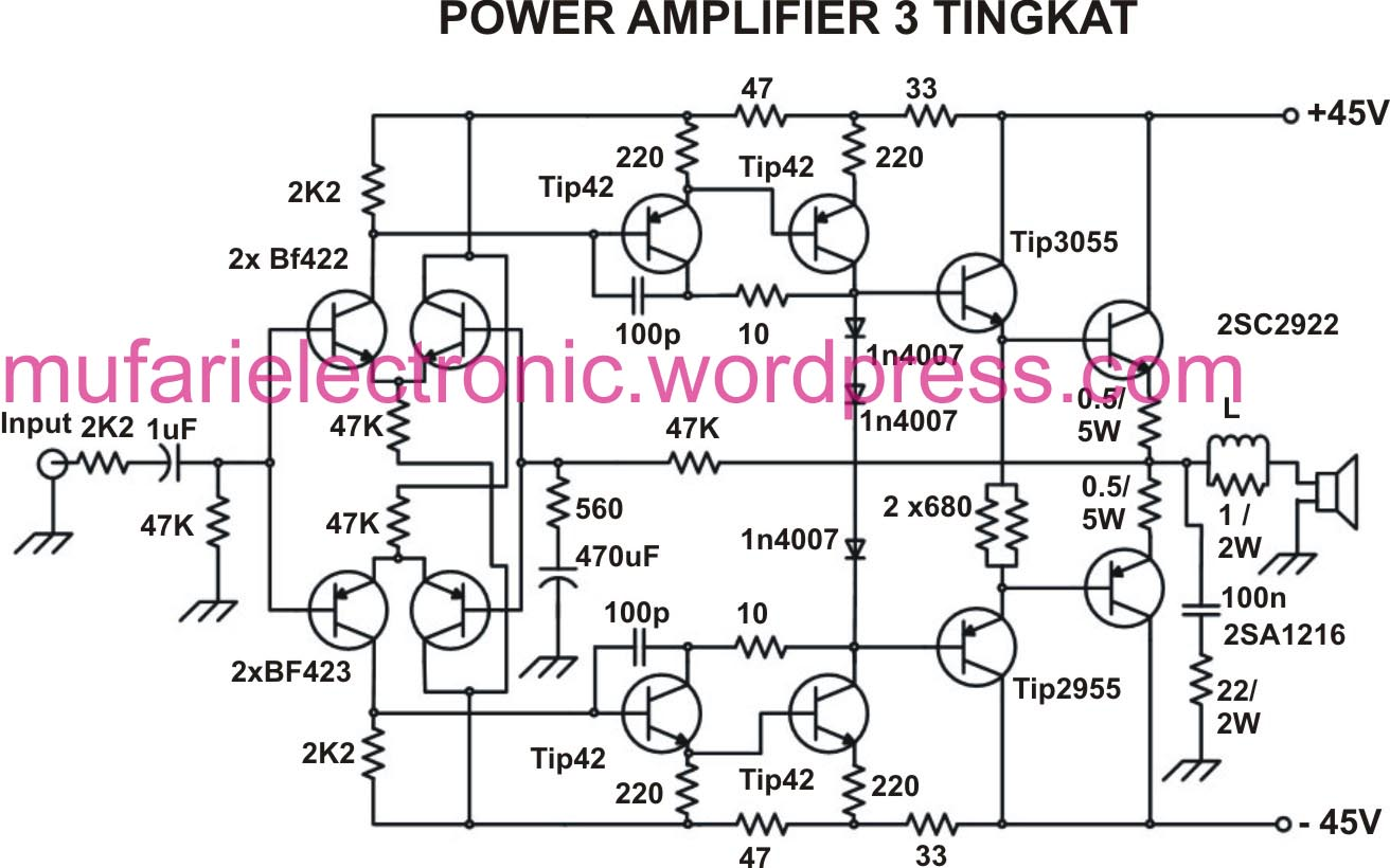 Power Amplifier 3 Tingkat