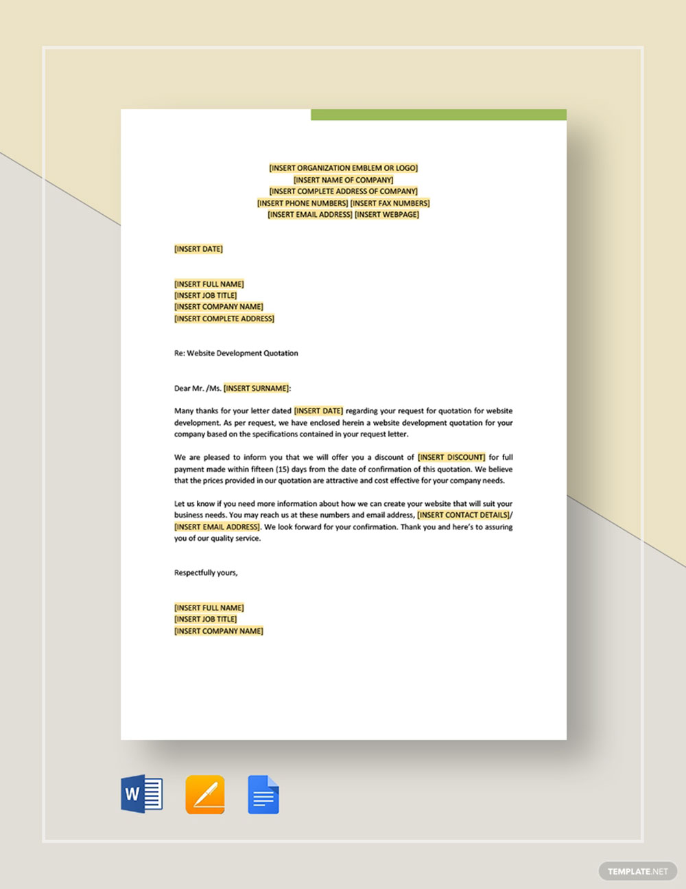 A quotation letter, when put simply, is a letter that is written for the purpose of indicating the price of a product or service and terms & conditions of business. Website Design Quotation Templates And Tips To Set Your Fee