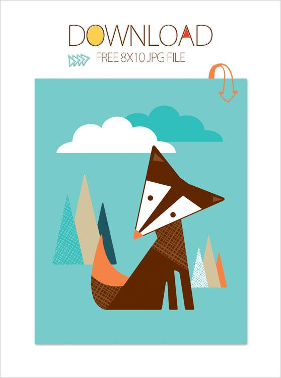 Free Modern Nursery Fox Wall Art X By Trendy Peas Do You | iltribuno.com