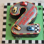 No 2 Race Car Cake
