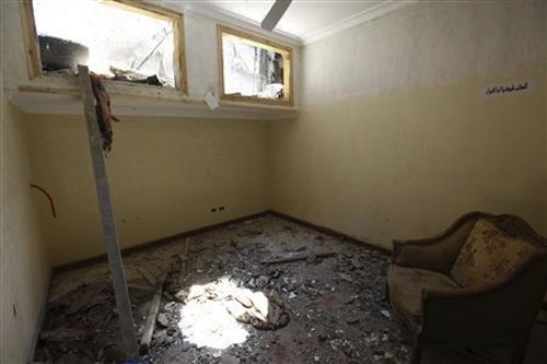 The destroyed home in Zawiyat Abu Musallam where four Shia were killed (Photo: Reuters)