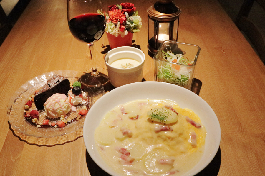 cafe dining Ospitare 夜ごはんセット