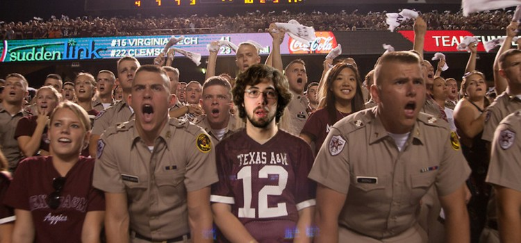 "SENIOR STILL NOT QUITE SURE OF WORDS TO ""SPIRIT OF AGGIELAND"""