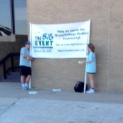 Sorority Girl Holding Banner Does Not Know Event Name