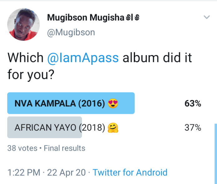 Lyrical Maestro A Pass' African Yayo album turns two years today. 9 MUGIBSON WRITES