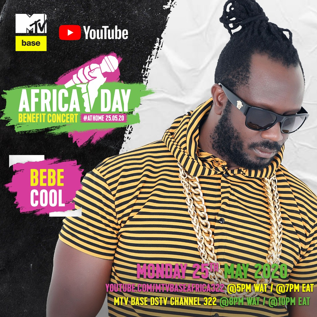"""Bebe Cool, Sean Paul, Nasty C, Teni, Sho Madjozi and more to perform in the """"Africa Day"""" Benefit Concert At Home. 1 MUGIBSON WRITES"""