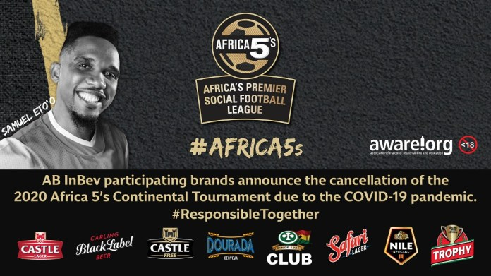 The 2020 Africa5s Premier Social League called off due to COVID-19 1 MUGIBSON