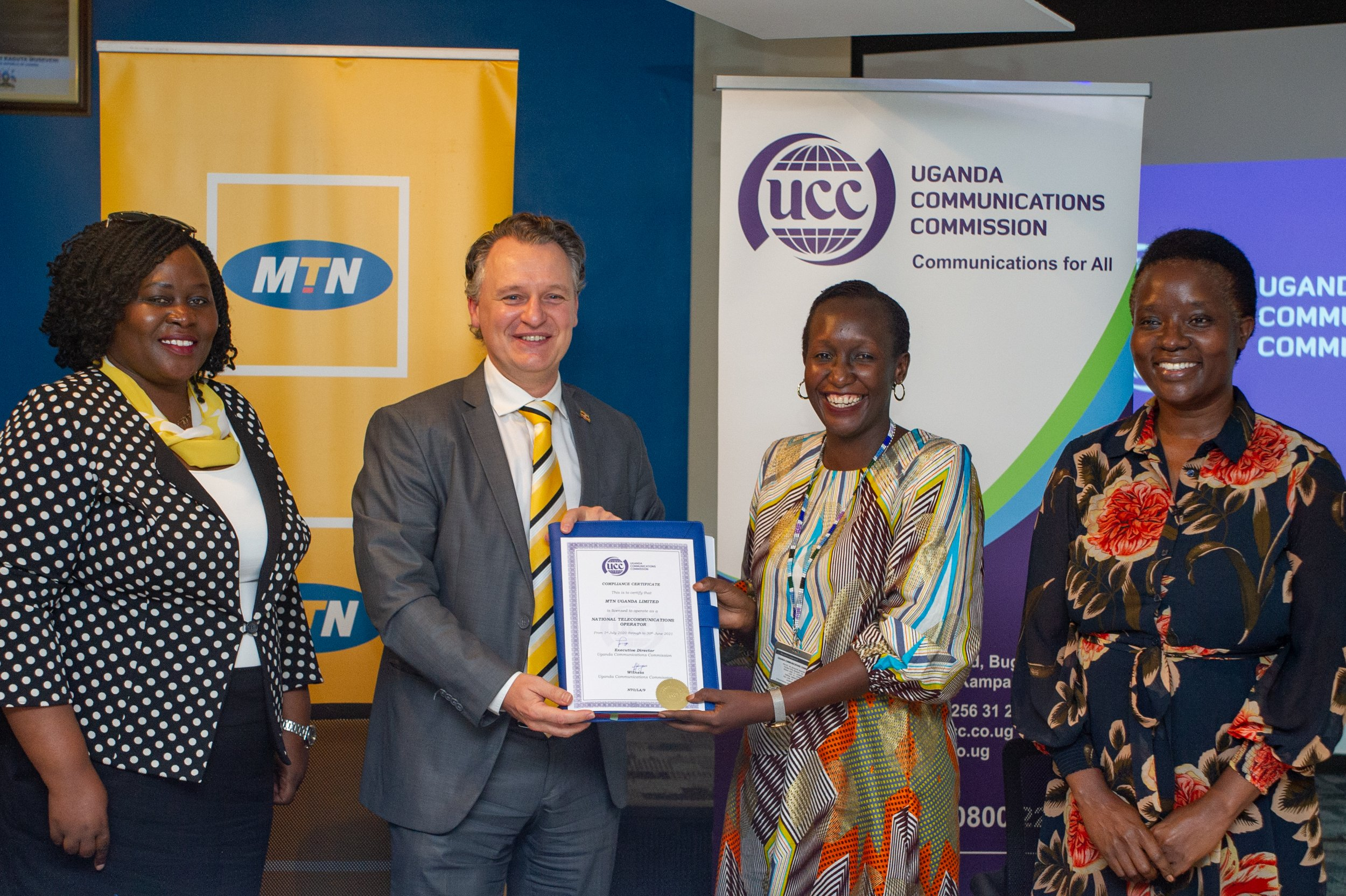 MTN Uganda and UCC officiate the telecommunication operator's license Renewal 1 MUGIBSON WRITES