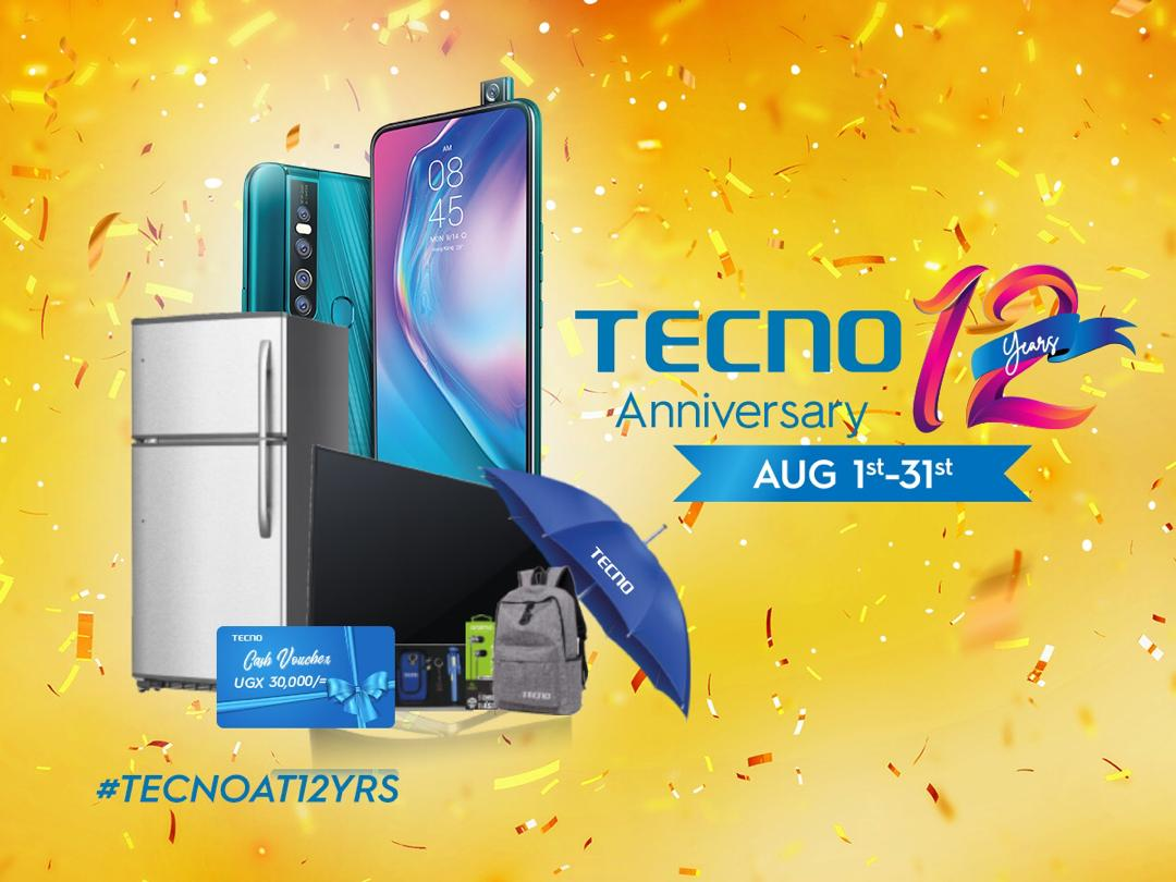 TECNO Mobile set to reward customers in new campaign as they mark 12 Year anniversary in Uganda 1 MUGIBSON WRITES