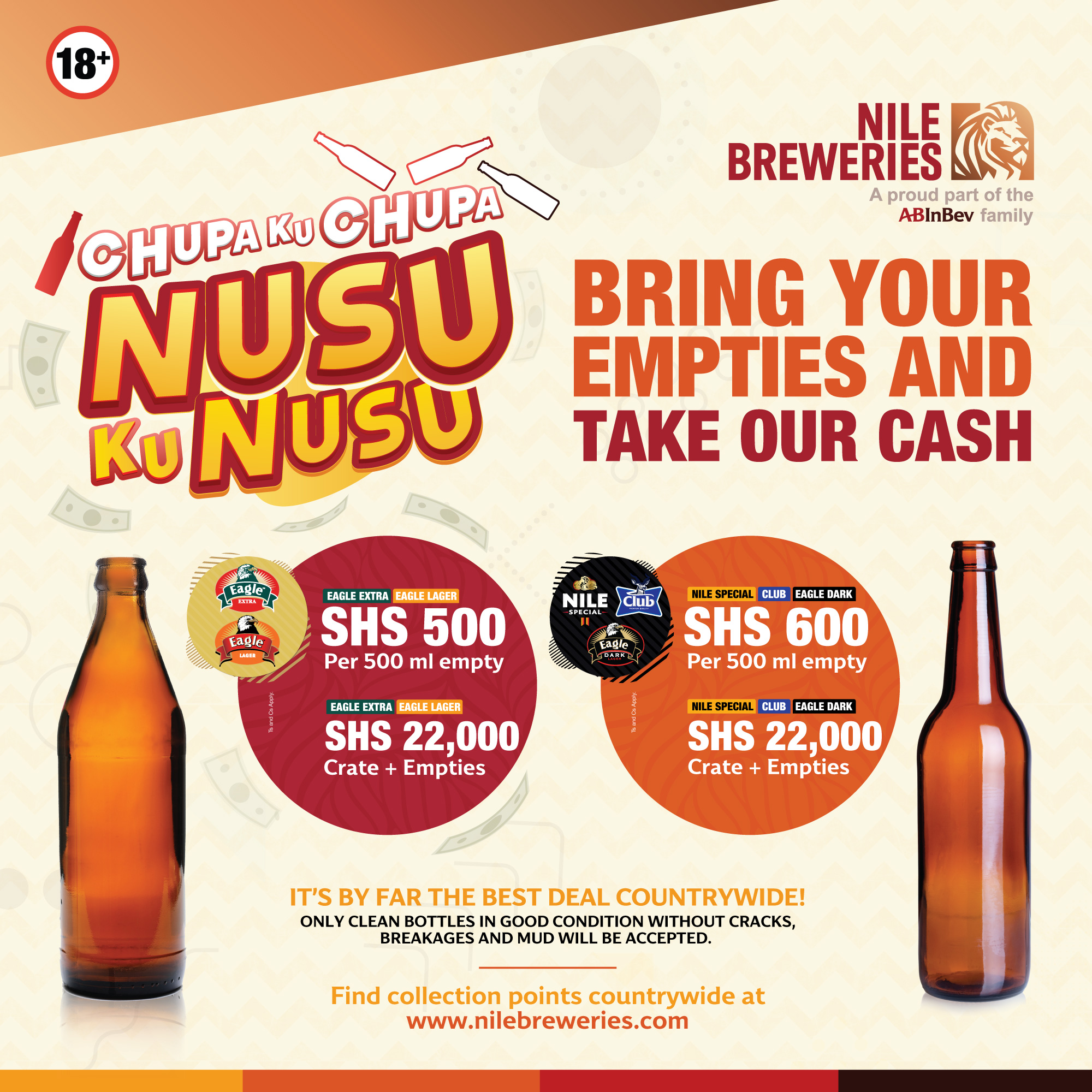 Nile Breweries' 'Nusu Ku Nusu' promo to reward you with cash for each empty beer bottle you present 1 MUGIBSON WRITES