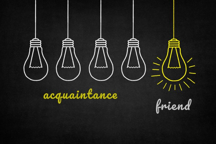 Difference between an acquaintance & a friend?