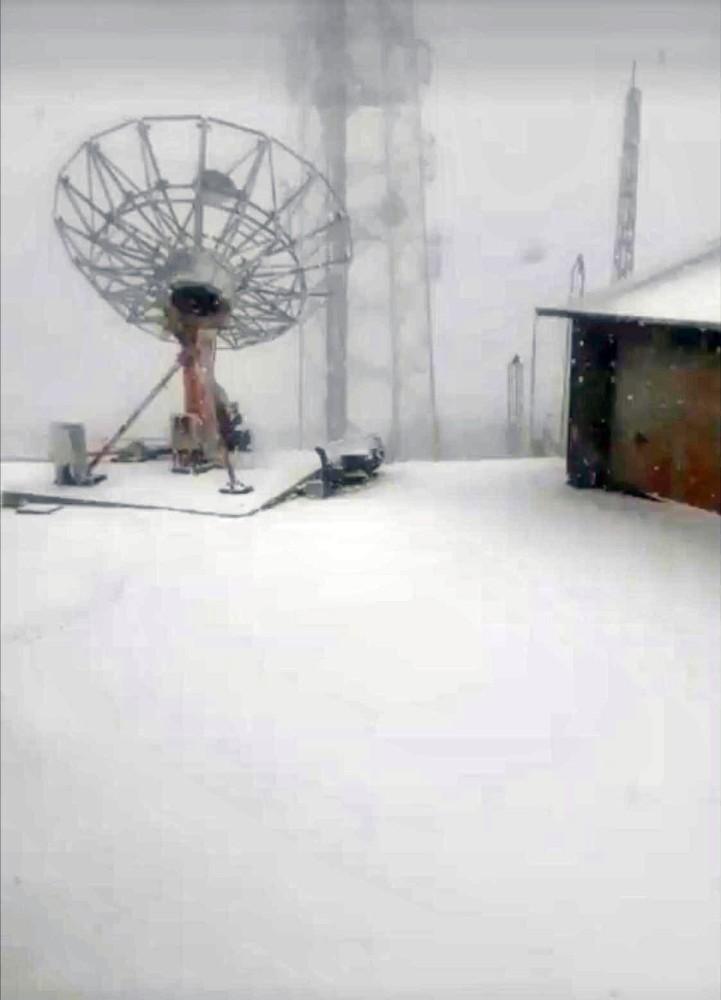 Kavaklıdere'de kar kalınlığı 10 santime ulaştı
