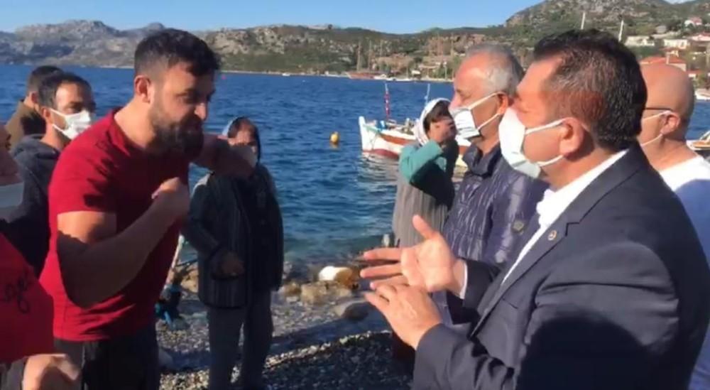 Yıkım yapılan köydeki vatandaşlardan CHP'li vekil Mürsel Alban'a sert tepki