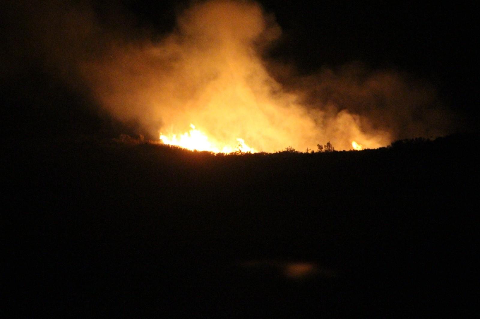 10 hektar makilik alan kül oldu