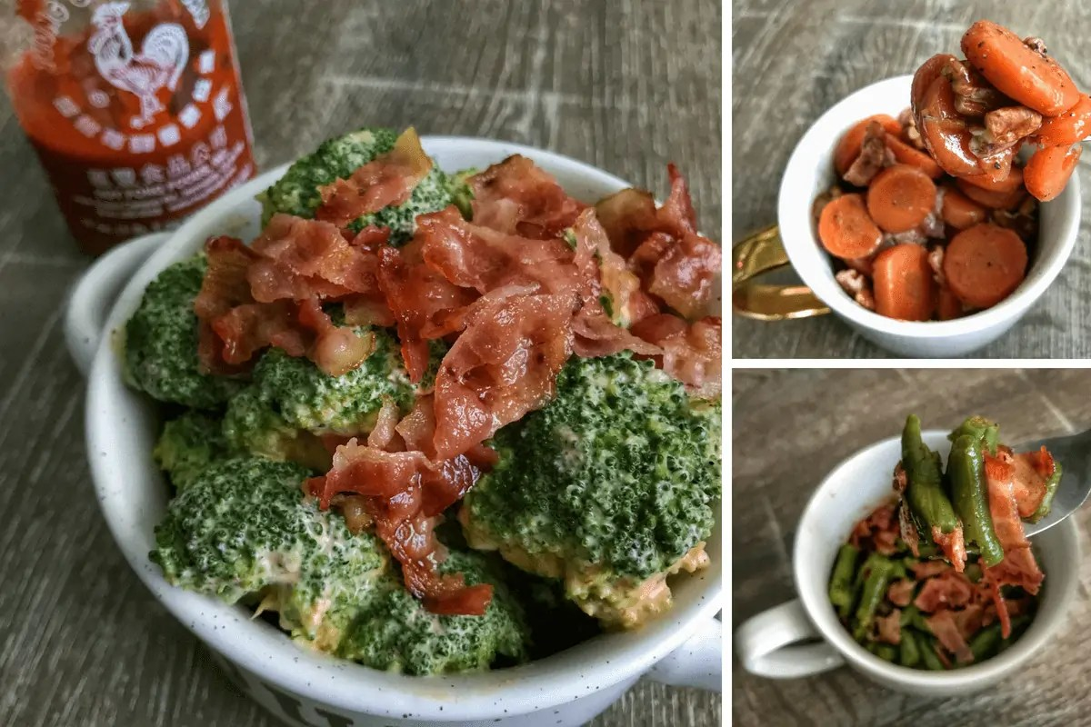 3 Microwavable Vegetable Side Dishes