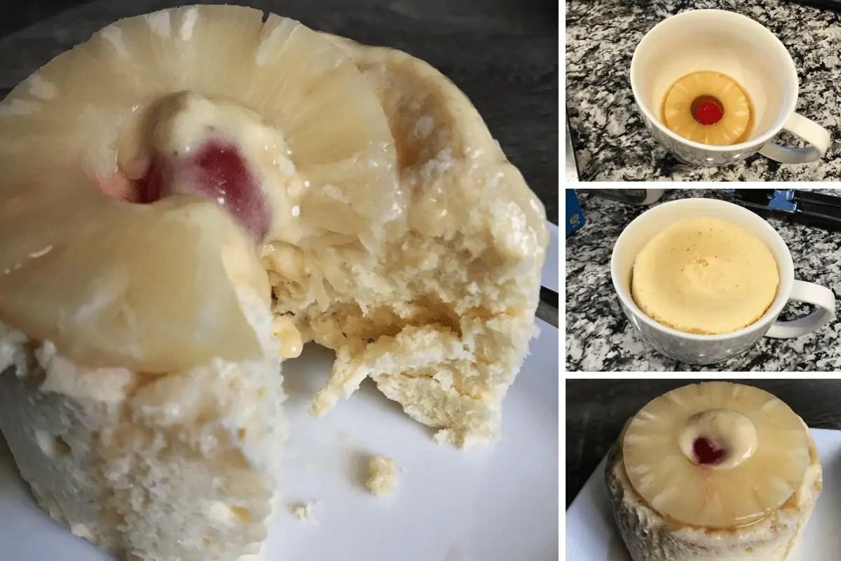 Pineapple Upside Down Cake in a Mug