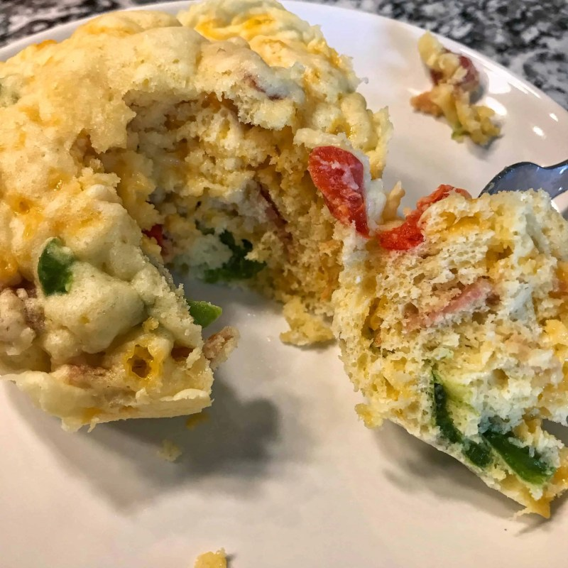low carb breakfast loaded omelet biscuit 1