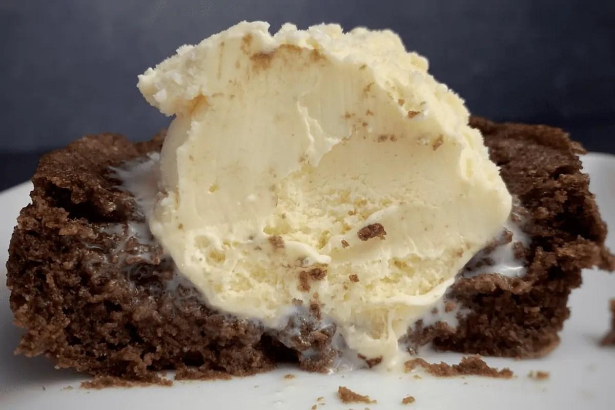 4-Ingredient Chocolate Protein Mug Cake
