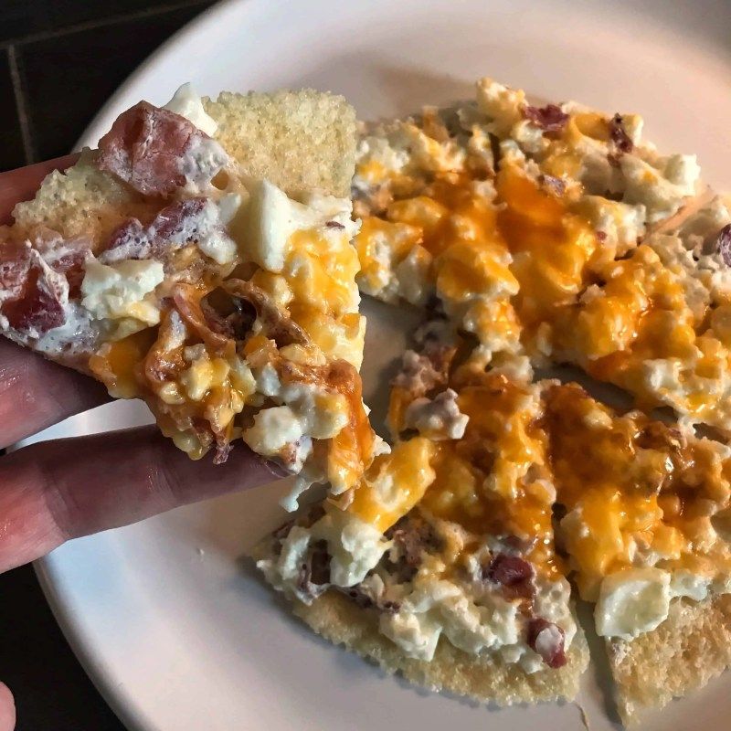 breakfast low carb microwavable pizza recipe