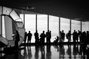 Silhouettes on the 104 floor