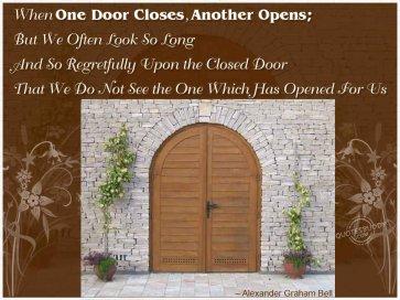 when one door closes, another opens, alexander graham bell