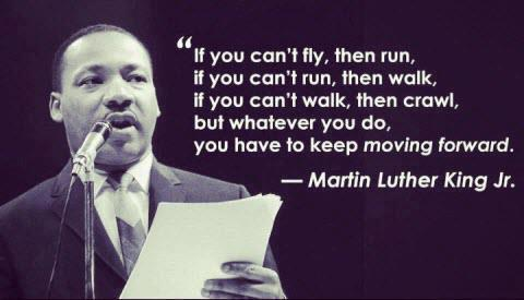 Do not give up on moving forward