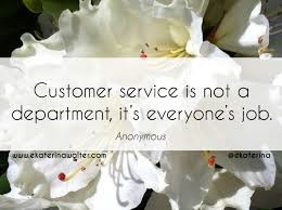 customers service is not a department