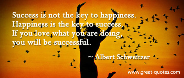 Happiness is a key to success