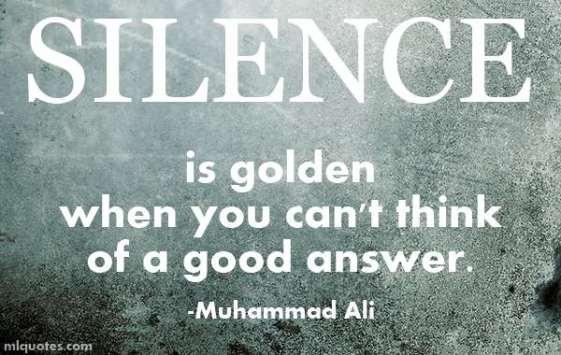 MuhammadAliPictureQuoteSilenceIsGolden
