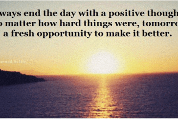 End your day in Positive Mode