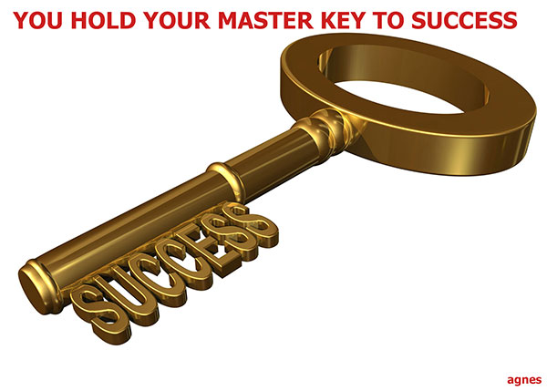 You are holding the Key to success
