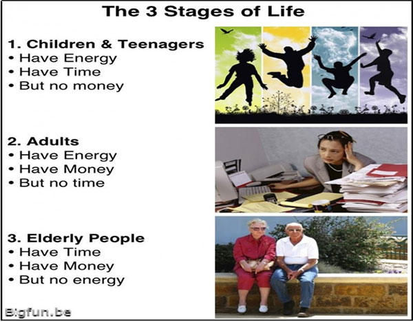 Your life has stages and what matters how you lived each stage