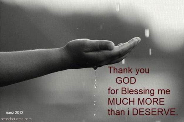 Lord your blessings are unaccountable
