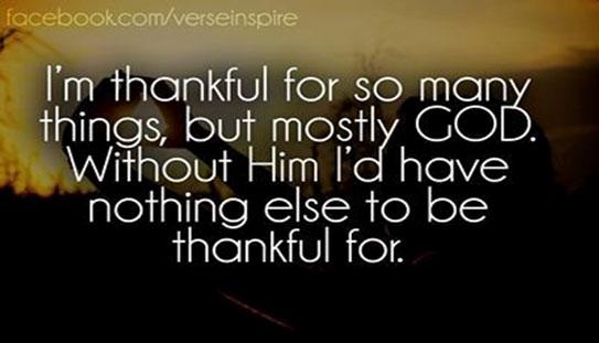 Lord I am grateful