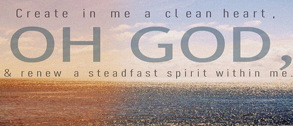Lord renew my heart and spirit