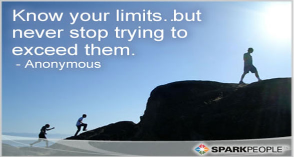 Exceed your limits in order to succeed in life