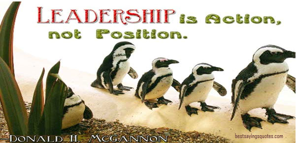 Leadership is a position of responsibility