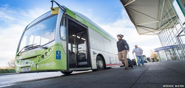 First bus powered by human waste hits the road