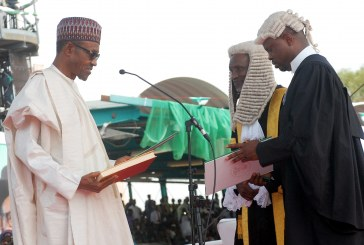 Muhammadu Buhari is sworn in as Nigeria president