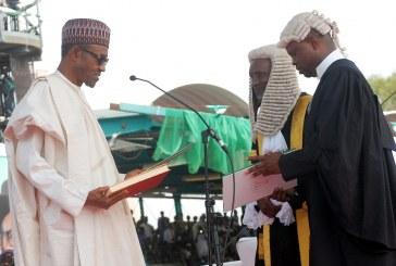 Muhammadu Buhari is sworn in as Nigeria president