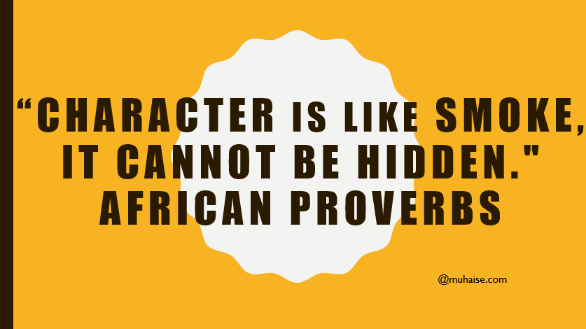Inspirational quote on character