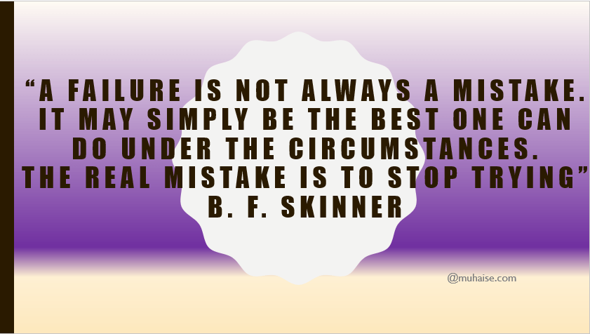 Inspirational quote on failure