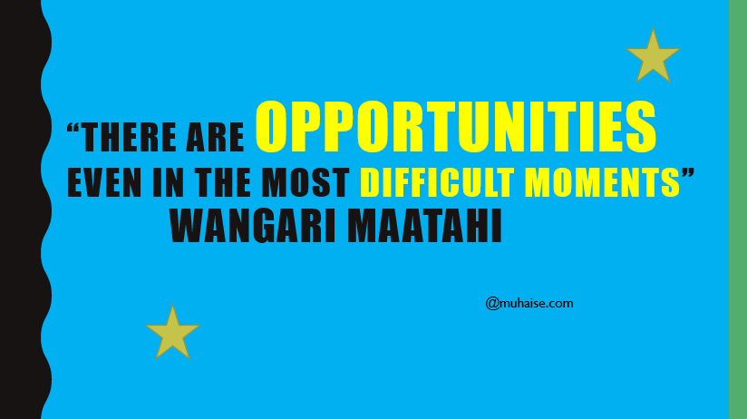 Inspirational quote on opportunity
